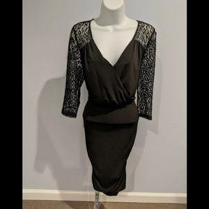 Thalia Sofi black stretchy dress size M